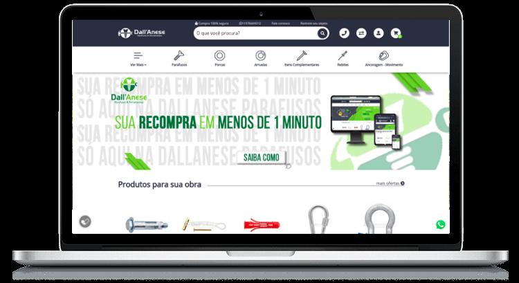 E-commerce Dallanese - Ampla Customização e Integração com o ERP Sankhya