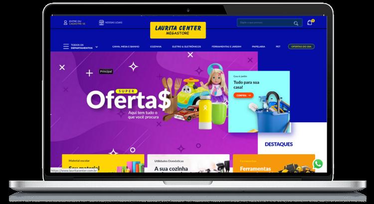 E-commerce Laurita Center - Design Inovador